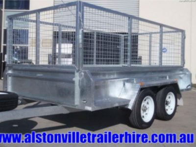 8 x 5 ft Heavy Duty Caged Box Trailer