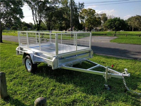 7 x 4 ft Caged Box Trailer for Hire