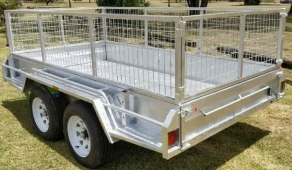 8 x 5 ft Tandem Heavy Duty Caged Box Trailer for Hire
